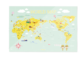 WORLD MAP KIDS ver.Mint