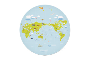 WORLD MAP ver.Cilcle(Blue)