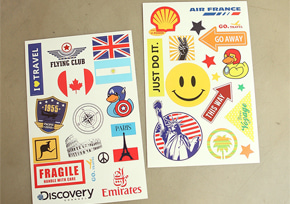LUGGAGE STICKER SET ver.1