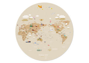 WORLD MAP ver.Cilcle(Brown)