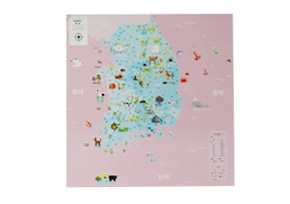 KOREA MAP_ver. KIDS-PINK