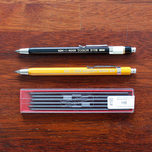 KOH-I-NOOR SHARP PENCIL_Black&Orange 샤프심